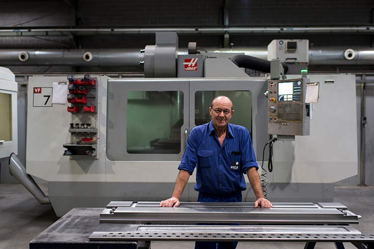 """The big challenge at RECA  for the Haas machines was the materials we cut,"" says Mr. Merlos, RECA factory coordinator. ""However, the Haas VF-7 demonstrated no issues, and we subsequently acquired two more in the years since. In fact, we've had no reliability issues whatsoever with any of our Haas machines, notwithstanding the heavy-duty cutting."""