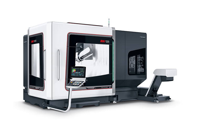 World première: CTX gamma 3000 TC 2nd Generation 800 mm X travel with the new compactMASTER® turn-mill spindle rated at 220 Nm torque