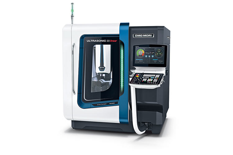 World première: ULTRASONIC 20 linear 2nd Generation Highly compact 5-axis grinding of advanced materials as well as the latest generation HSC milling