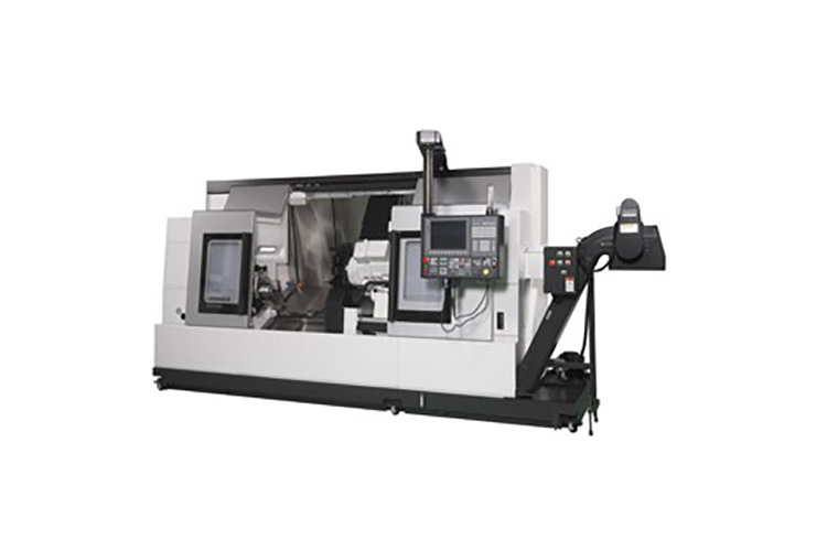 Okuma s lb3000 ex ii high powered cnc lathe accommodates for Bed tech 3000
