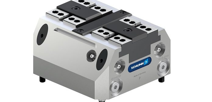 Clamping force blocks for robot-assisted pallet loading